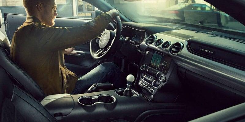 2018 Ford Mustang GT Premium Interior in Ebony