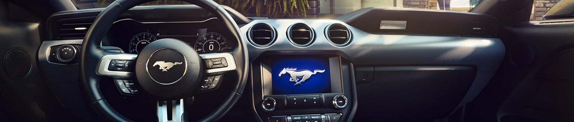 2019 Ford Mustang Voice-Activated Touchscreen Navication System.