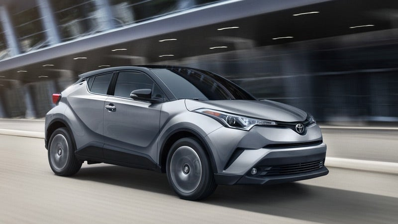 2019 Toyota CH-R Limited shown in Silver Knockout Metallic R-Code Black.