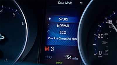 2019 Toyota CH-R XLE standard 4.2-in. TFT Multi-Information Display and Sport Mode shown.