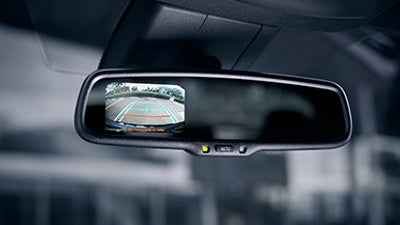 2019 Toyota CH-R smart mirror with integrated backup camera display.
