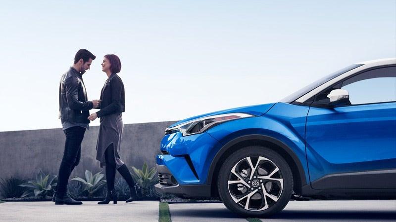 2019 Toyota CH-R XLE shown in Blue Eclipse Metallic R-Code Iceberg.