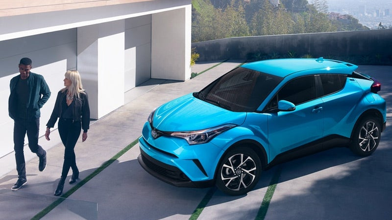 2019 Toyota CH-R XLE shown in Blue Flame.