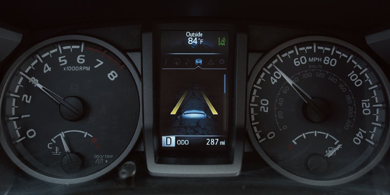 2019 Toyota Tacoma Tacoma's 4.2-in. color Multi-Information Display