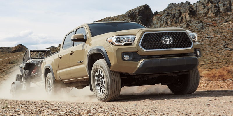 2019 Toyota Tacoma TRD Off-Road Double Cab Long Bed shown in Quicksand